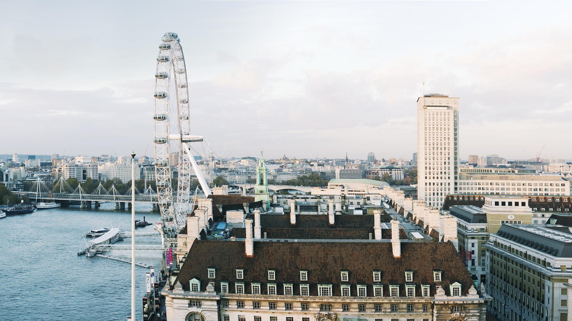 large digitally-composed image of london eye