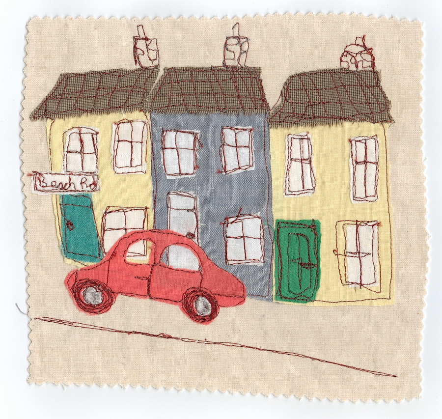 large format poster terraced houses