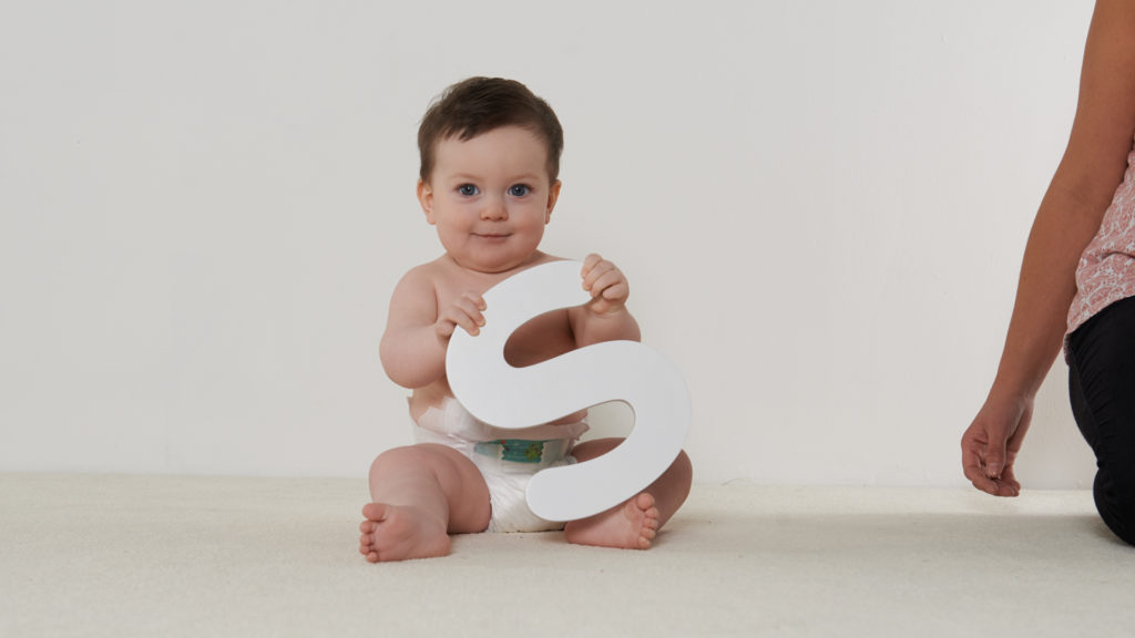 Baby with an S