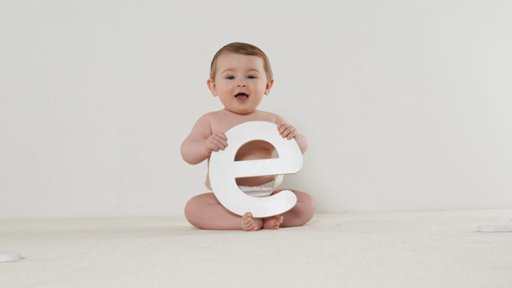 Baby with an E
