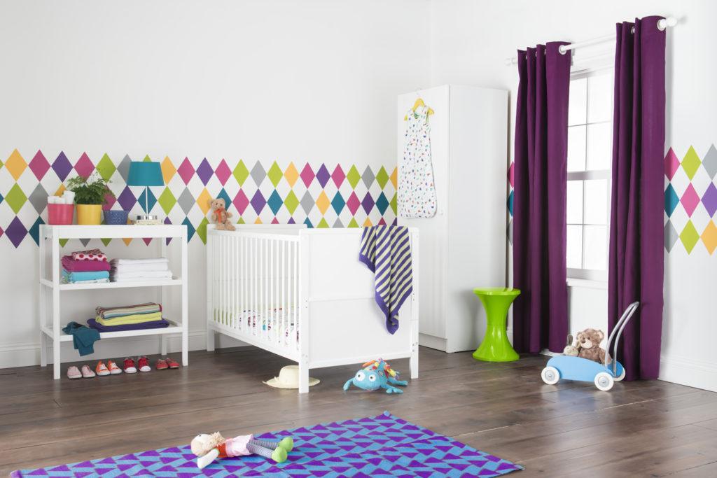Room set purple carpet