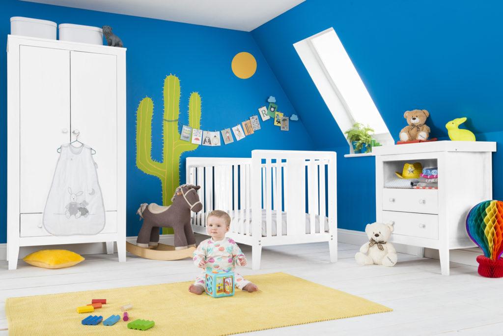 Room set Blue walls