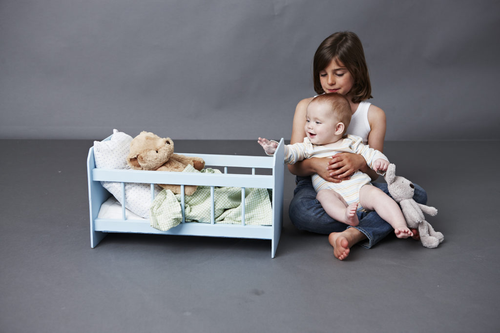 Cot and baby doll